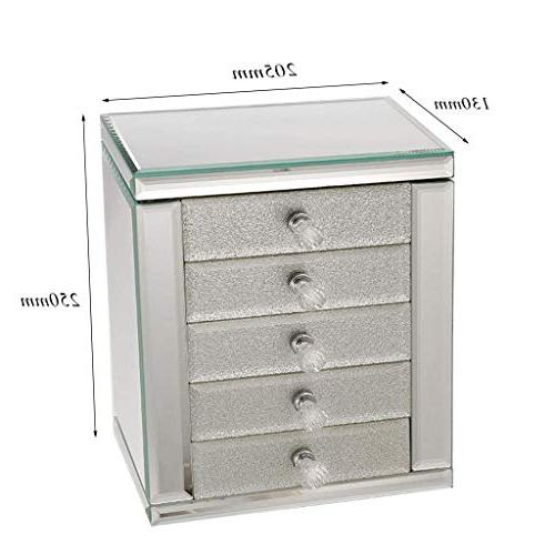 Jewellery Box Layers 4 Drawers Exquisite with Finish