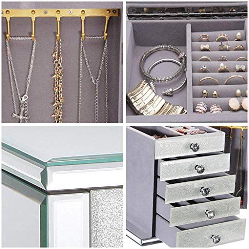 Jewellery 4 Drawers with 2 Gold Finish