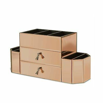 Beautify Gold Glass Storage Organizer and...