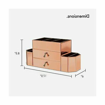 Beautify Gold Cosmetic Makeup Storage