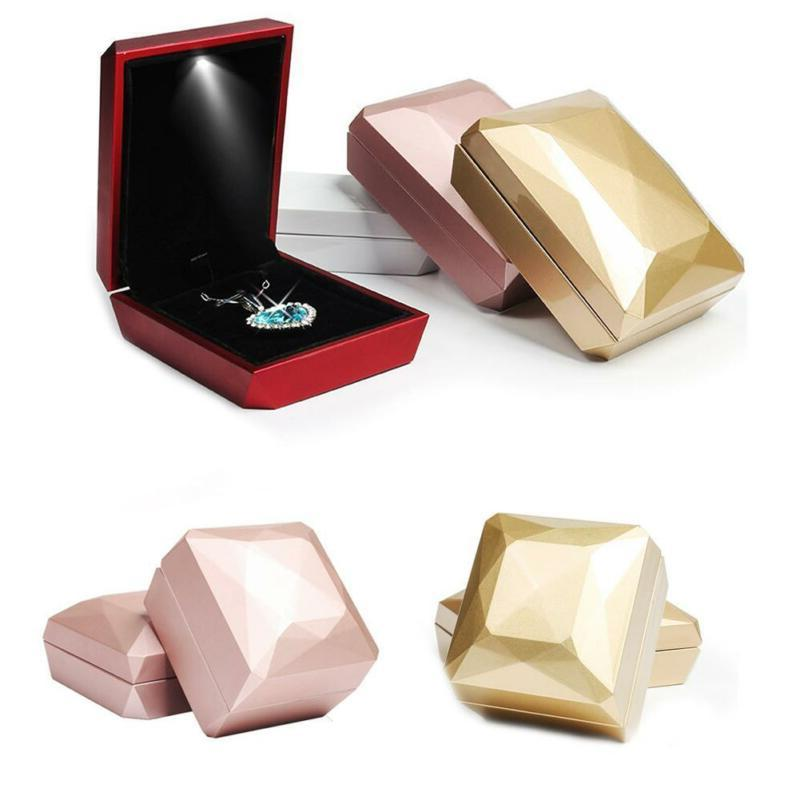 led lighted jewelry display box gift boxes