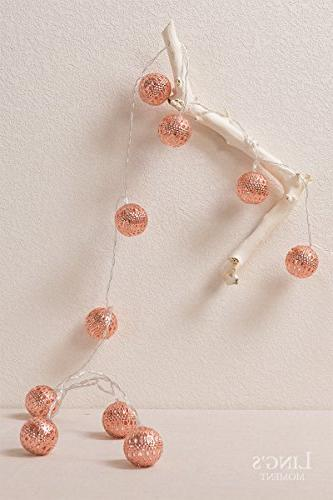 Ling's Moroccan Boho Decor Globe String Lights Bedroom, Curtain, Patio, Party, Decorations