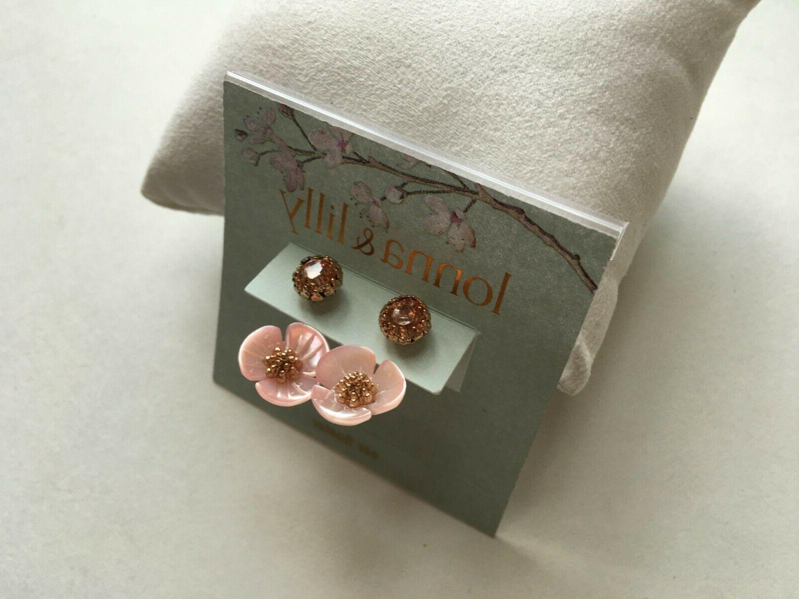lonna and lilly earrings rose gold tone