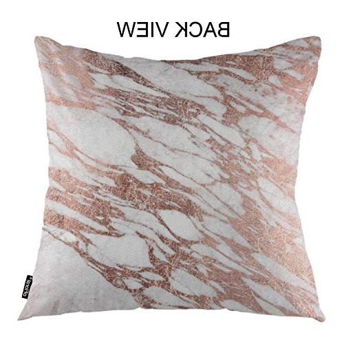 oFloral Marble Throw Covers Gold Rock Stone Surface Natural Slab Decor Bedroom