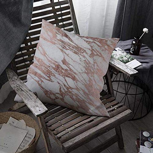 """oFloral Marble Throw Pillow Covers Stone Slab Decorative Pillow Case 18""""X18"""" Decor for for Bedroom Livingroom"""
