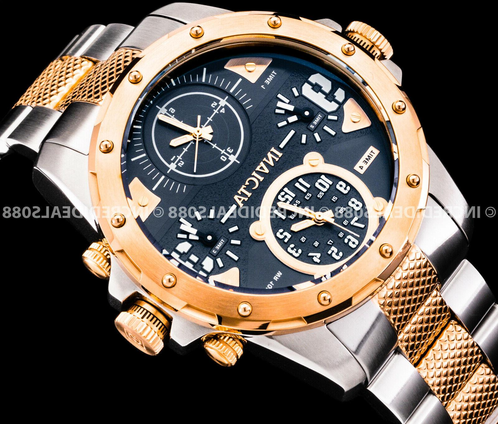 Invicta Men Special Ops Gold Silver