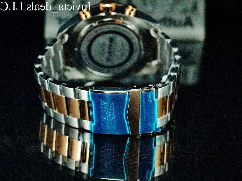 Invicta THUNDER BLACK Dial Rose SS Watch