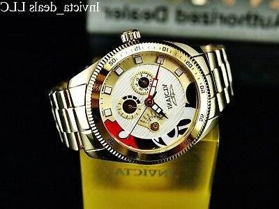Invicta Mickey Mouse Limited 18K Gold SS Watch