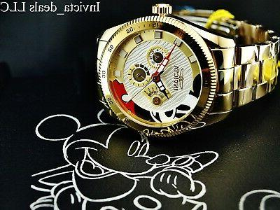 Invicta Men's 44mm Mickey Limited Edition 18K Watch