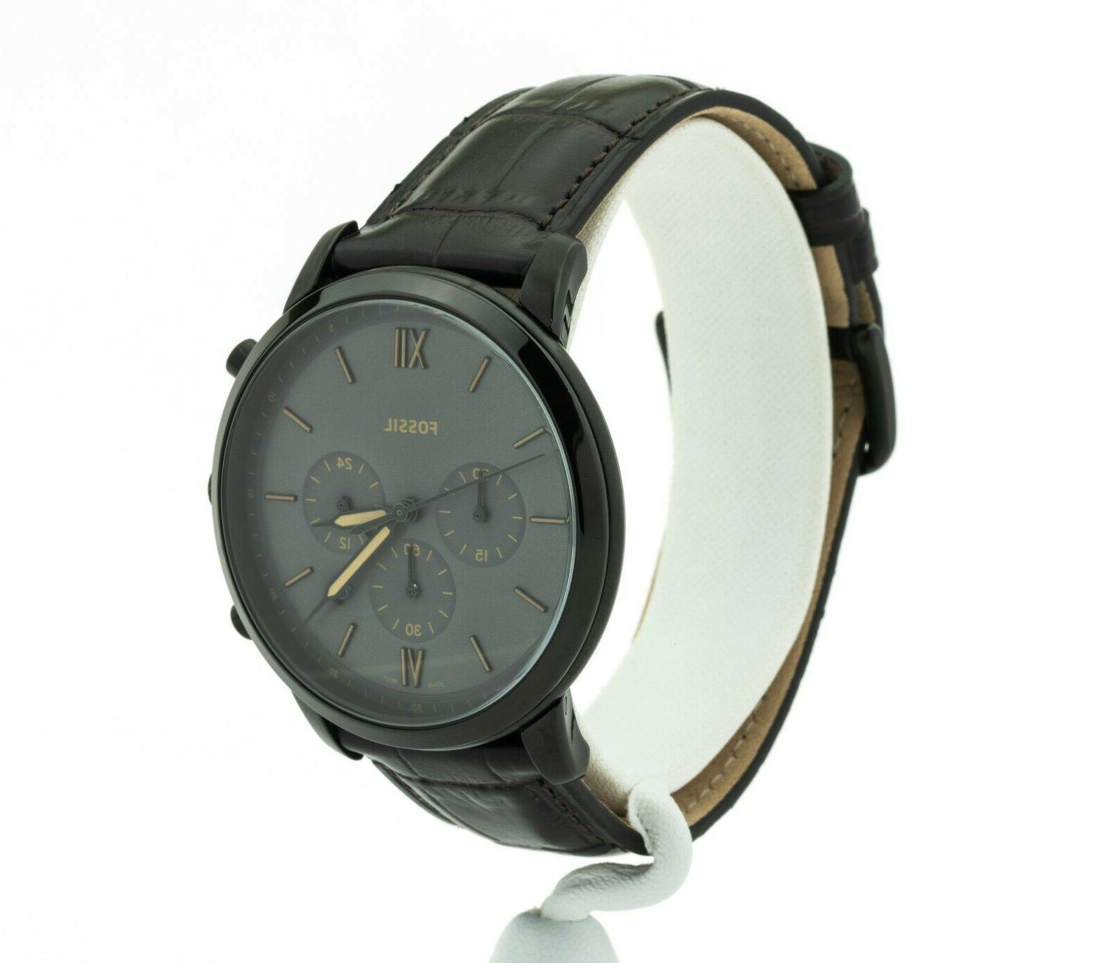 Men's Fossil Chronograph Leather FS5579,