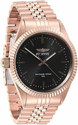 men s watch specialty charcoal dial rose