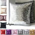 Mermaid Glitter Sequins Pillow Cover Cases Home Car Sofa Cus