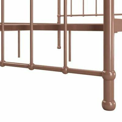 Modern Platform Headboard Footboard Rose Gold Finish