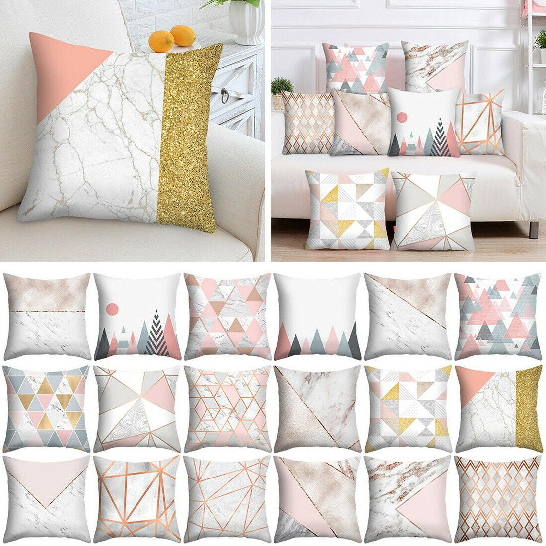 Modern Rose Gold Cushion Covers Pillowcase Bed