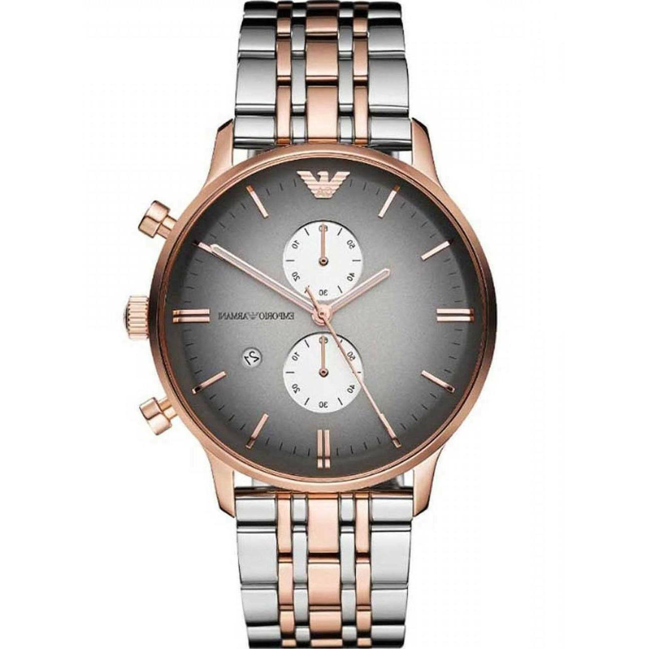 ⌚New Armani Rose Stainless Steel Men's