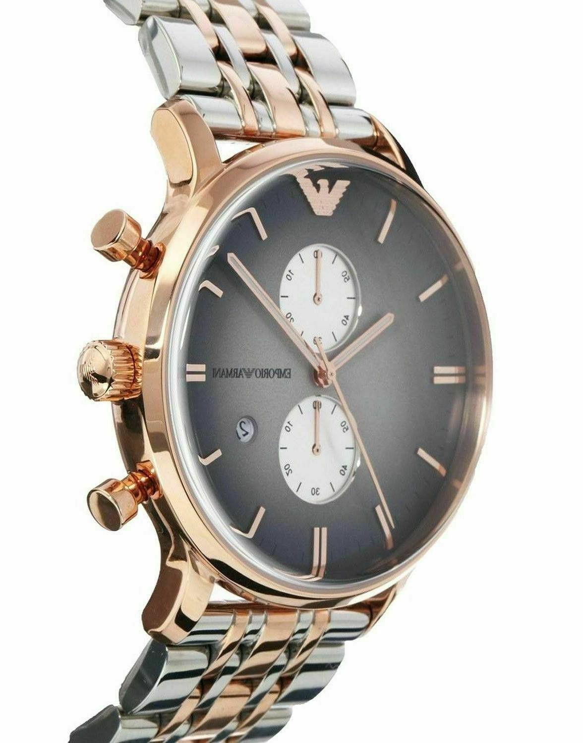 ⌚New Emporio AR1721 Stainless Men's