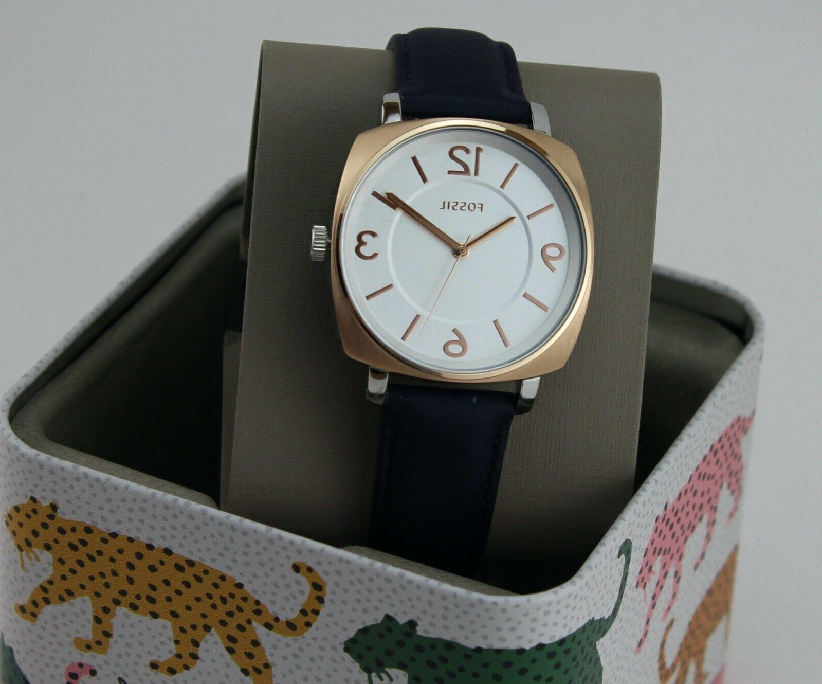 NEW FOSSIL ROSE BLUE LEATHER WOMEN'S BQ3302