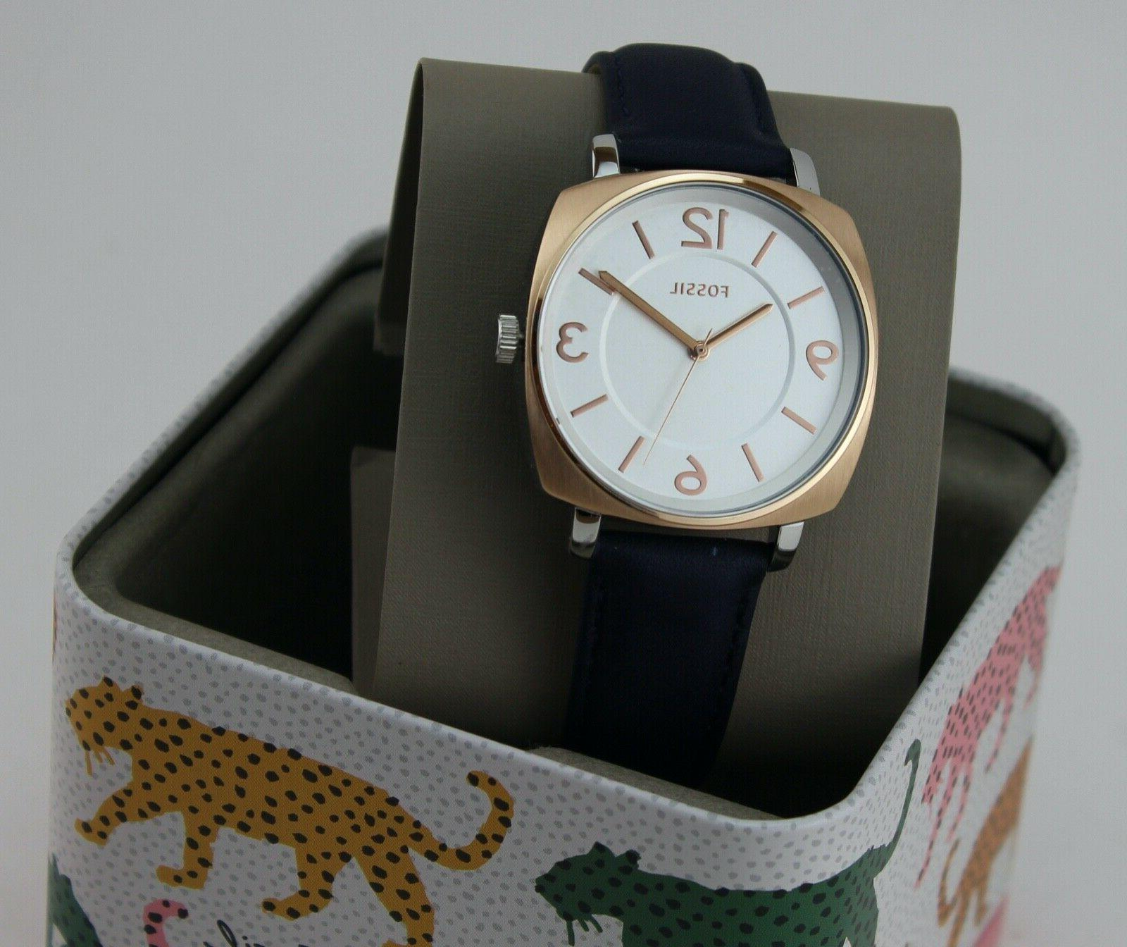 new authentic blakely rose gold navy blue