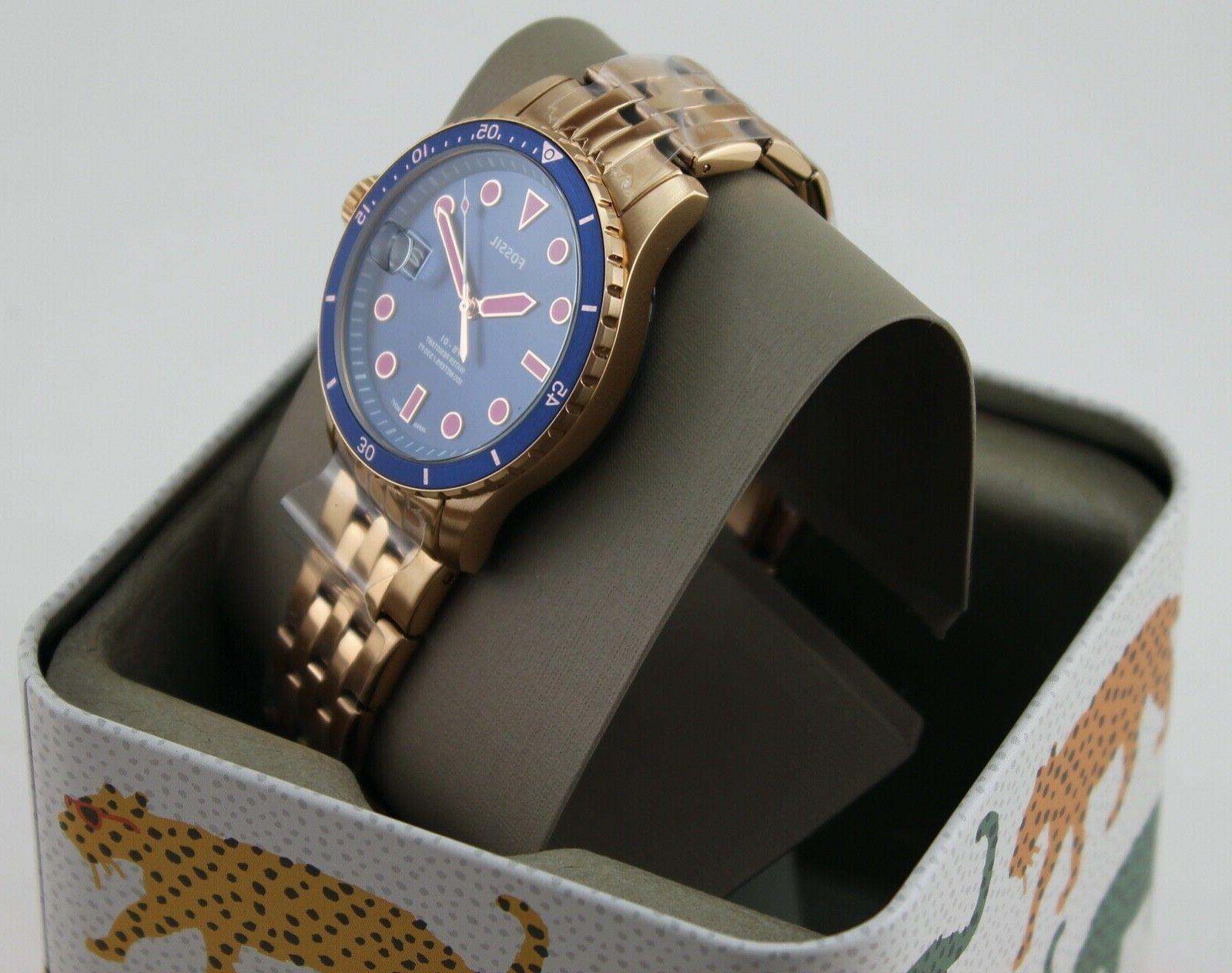 NEW AUTHENTIC FOSSIL ROSE GOLD WOMEN'S