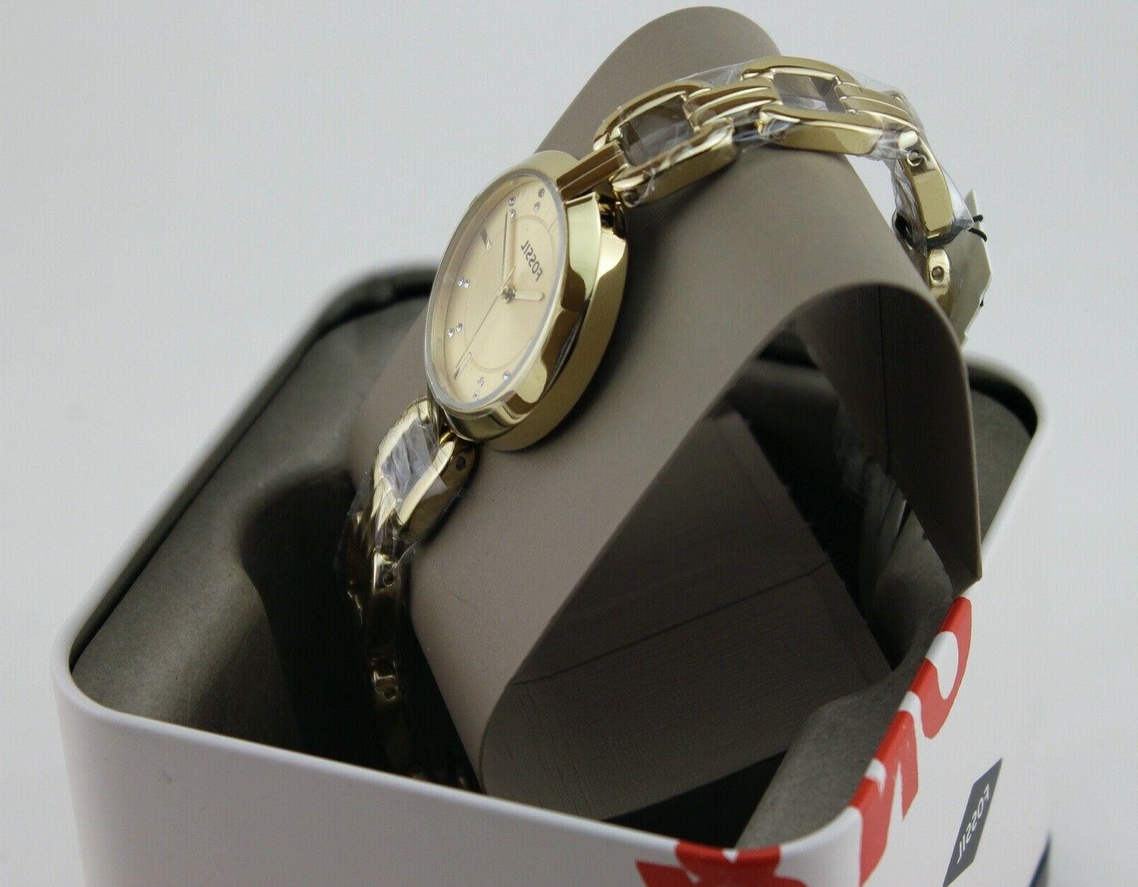 NEW AUTHENTIC GOLD CRYSTALS WOMEN'S WATCH