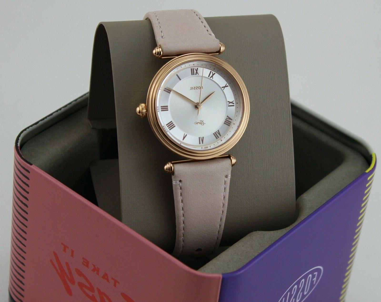 NEW FOSSIL ROSE BLUSH LEATHER WOMEN'S