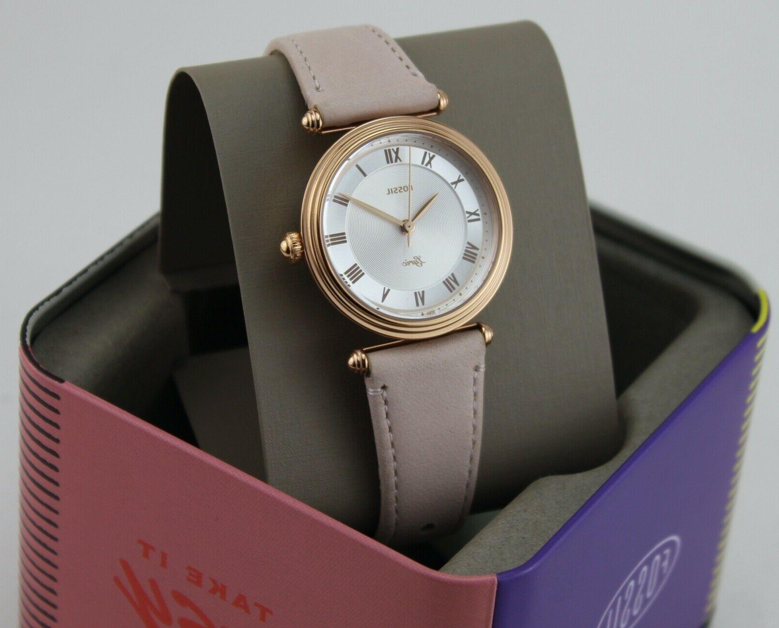 NEW FOSSIL ROSE GOLD BLUSH LEATHER ES4707