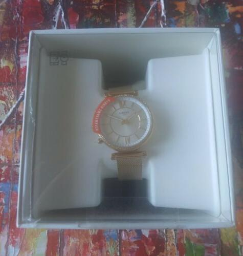 New Fossil Hybrid Rose Gold Steel Smartwatch FTW5060