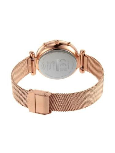 Rose Gold Mesh Steel Smartwatch
