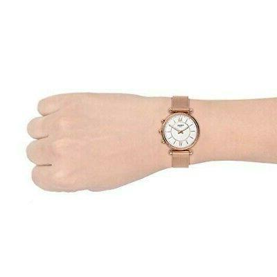 New Fossil Hybrid Rose Gold Stainless Steel FTW5060
