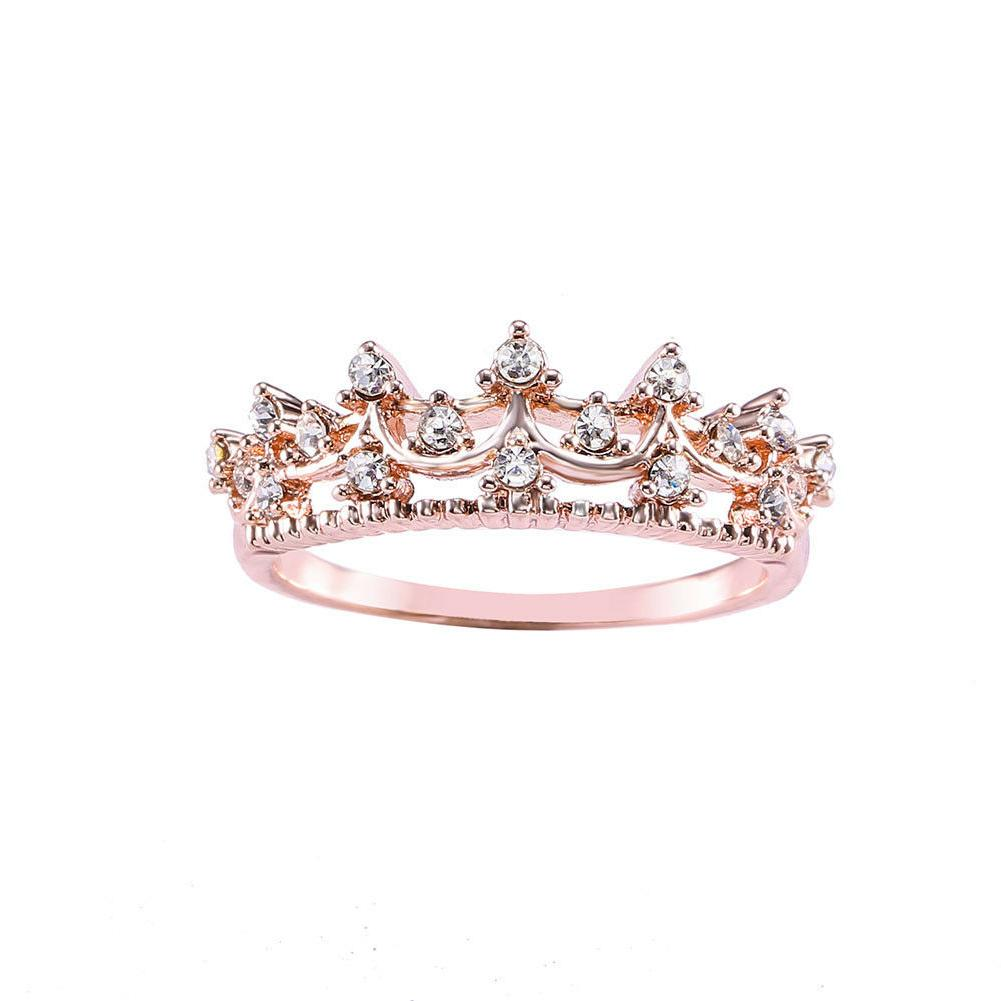 new exquisite princess women rose gold plated