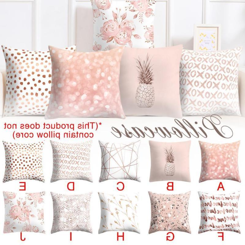 Nordic Rose Gold Pink Throw Pillow Case Cushion Cover Pillow