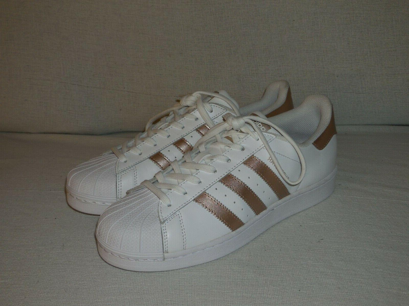 Adidas Originals Superstar W White Rose Gold-WOMEN'S SIZE 9