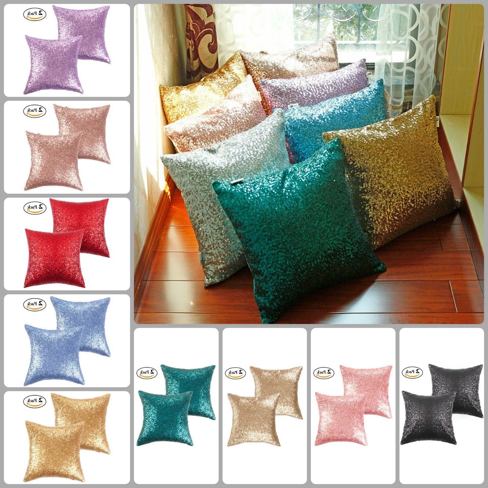 Pack Of 2 Throw Pillow Covers 18x18 Cushion Case Sofa Home D