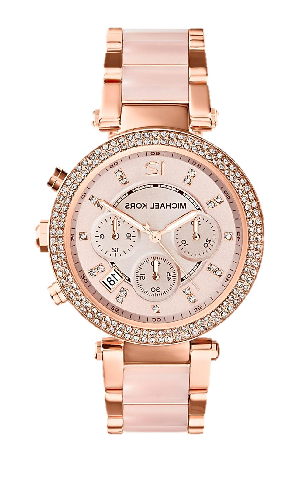 parker rose gold blush acetate women watch