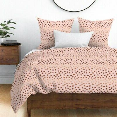pink dots rose gold look copper tone