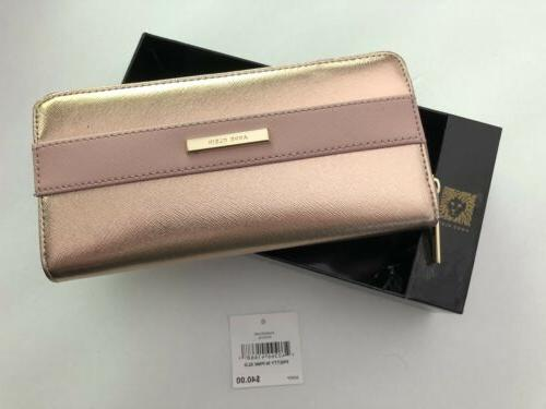 Anne Klein Pretty In Pink Rose Gold 60448055-D99 Zip Around