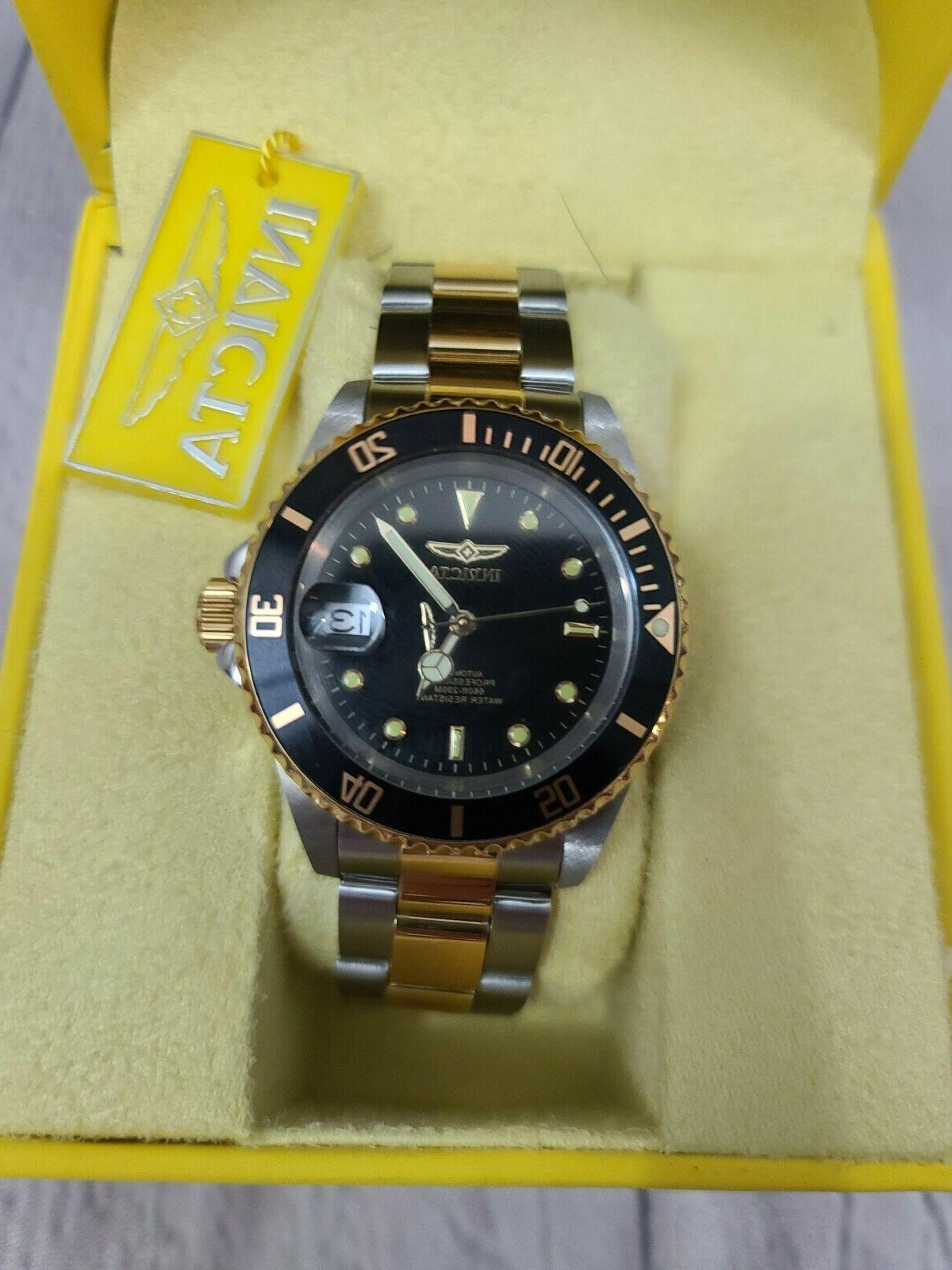 Invicta Diver Two Gold Black Dial Automatic Watch