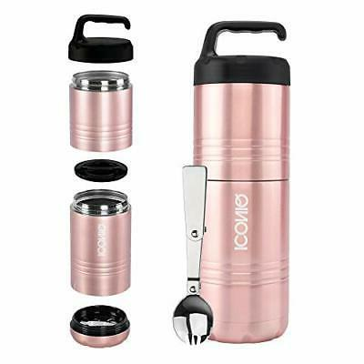 qore stackable stainless steel insulated food stack