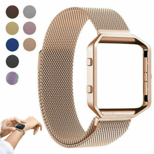 Replacement Stainless Steel Loop Strap Wrist Band+Frame for