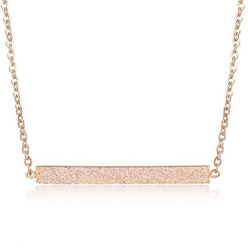 rosa vila minimalist bar necklace simple horizontal
