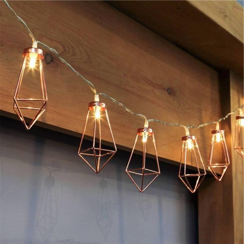 Rose Gold Diamond Water Drop LED Battery Color Lamp String L