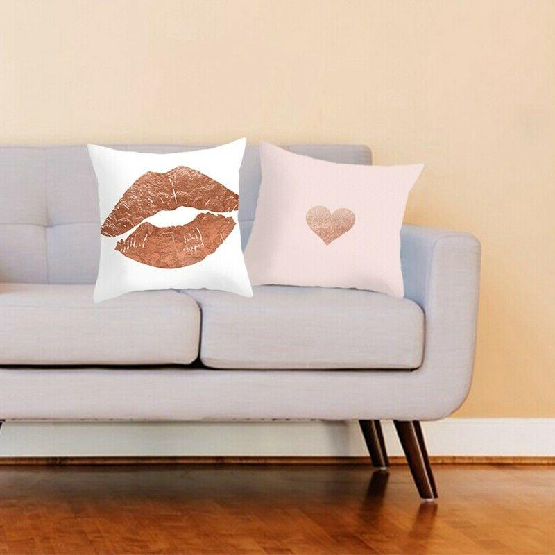 Rose Gold Flower Pillow Case Cover Hot