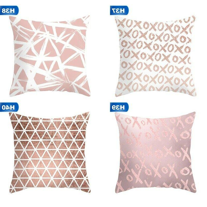 Rose Flower Pillow Cover Sofa Hot Sale
