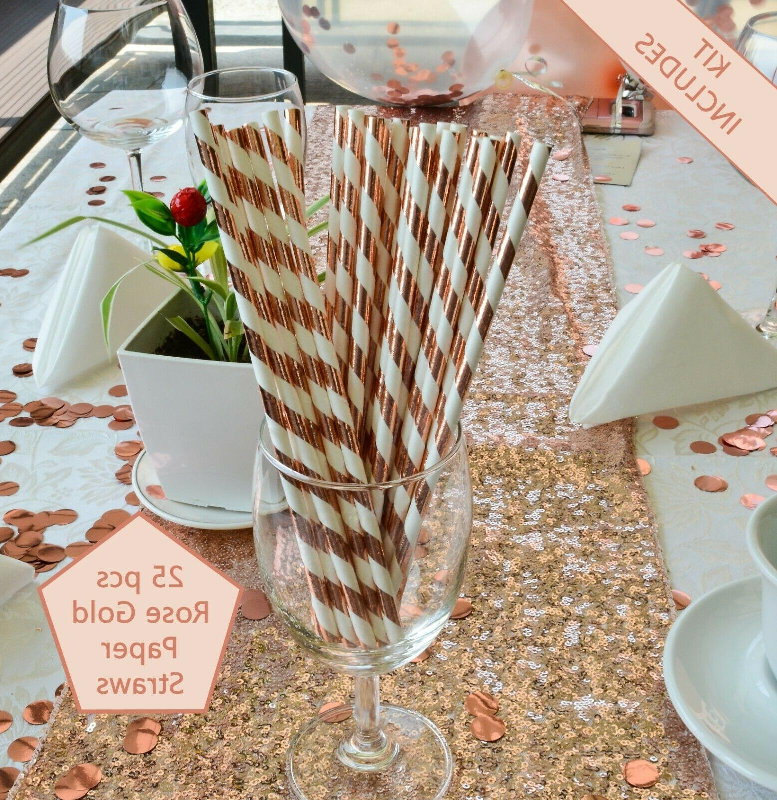 Rose Gold by Serene Birthday Decoration Kit