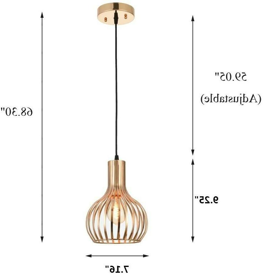 Rose Gold Fixture Island Hanging Ceiling Cage