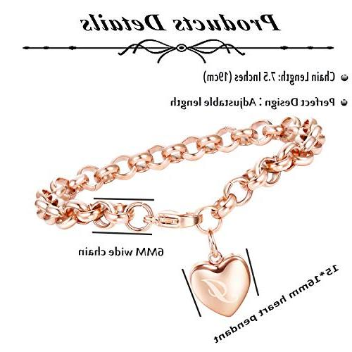 Adramata Rose Gold Initial Bracelets for Girls Ankle I