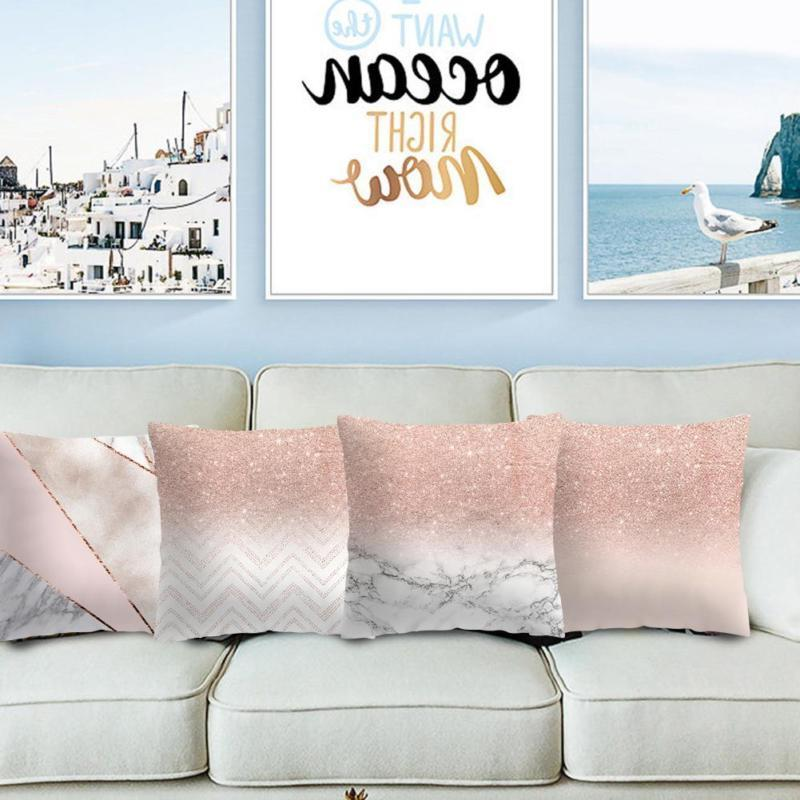 Rose Gold Pillow Throw Cushion Decor