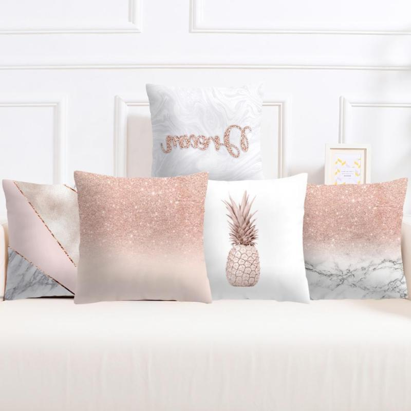 Rose Gold Pillow Case Sofa Throw Cushion Decor