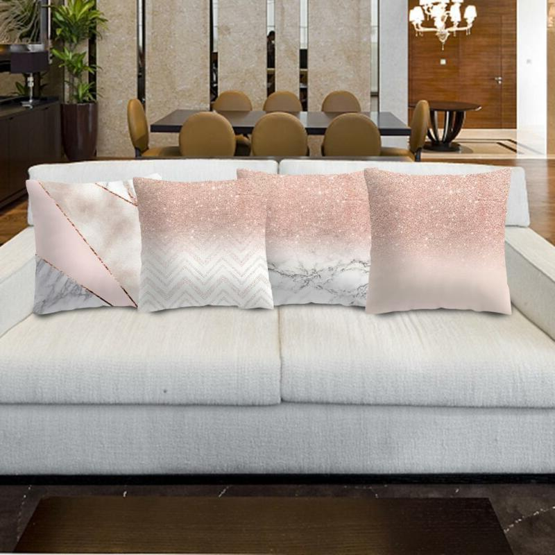 Rose Gold Pillow Throw Cushion Home Decor 18''x18""