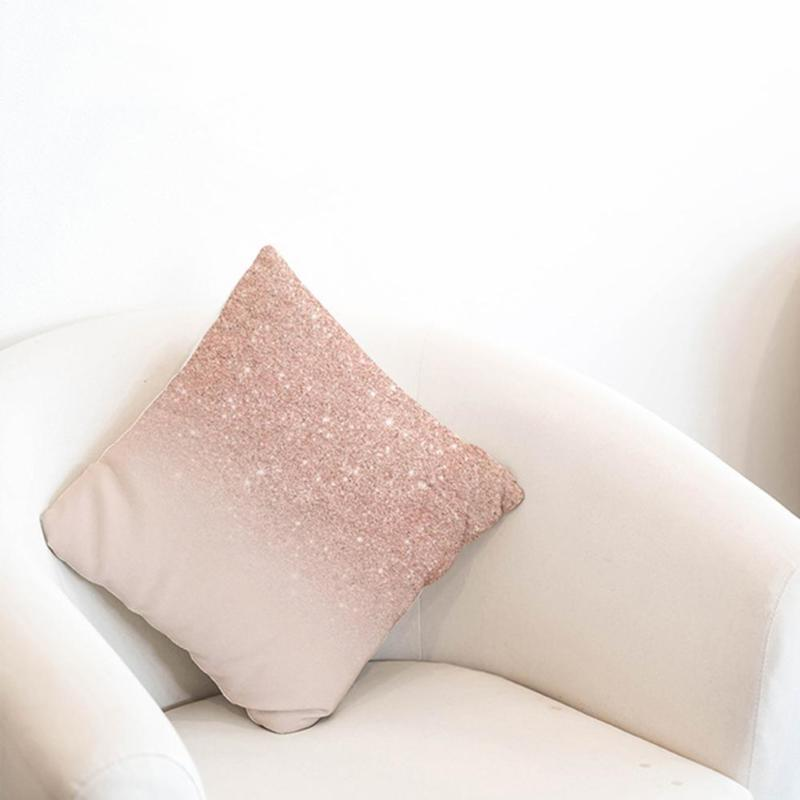 Rose Gold Pillow Case Throw Cover Decor 18''x18""
